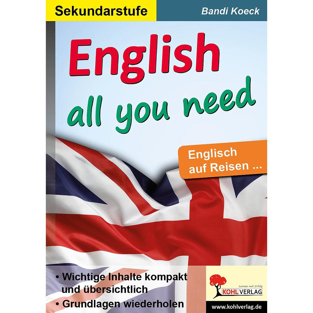 English all you need - Englisch auf Reisen / PDF, ab 10 J., 32 S.