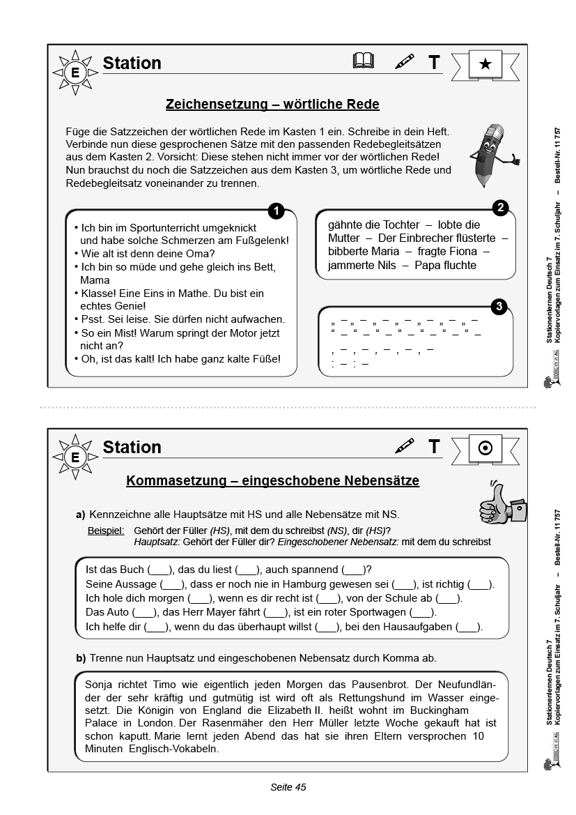 Stationenlernen Deutsch / PDF, ab 12 J.